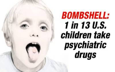 1 in 13 kids on psychiatric drugs